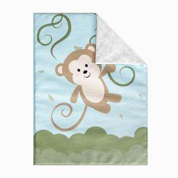 Cobertor Dupla Face com Soft Amiguinho Macaco 1M