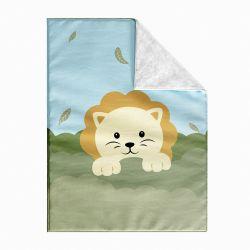 Cobertor Cobertor Dupla Face com Soft Amiguinho Safári Leão 1M