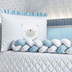Kit Berço Trança Ursinho Azul