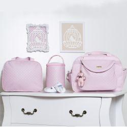 Conjunto de Bolsas Valência Rosa