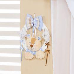 Porta Maternidade Ursinhos Azul