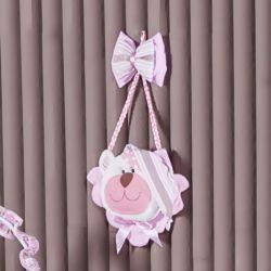 Porta Maternidade Urso Soninho Rosa