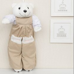 Porta Fraldas Urso Teddy Cáqui