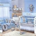 Quarto para Bebê sem Cama Babá Baby Azul
