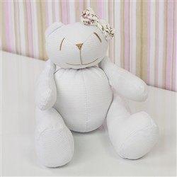 Urso Lacinho Palha Floral P