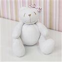 Urso P Lacinho Floral Rosa