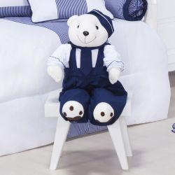 Porta Fraldas Urso Marinheiro Azul