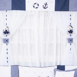 Cortina Marinheiro Azul 1,50m