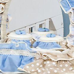 Jogo de Potes Rancho Azul/Bege