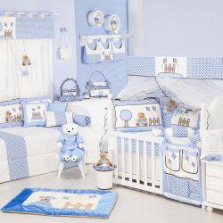 Quarto de Bebê sem Cama Babá Cerquinha Azul