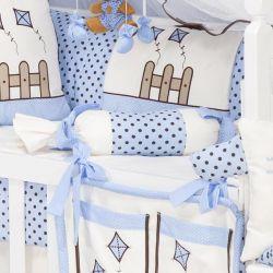 Almofada Apoio Bala Cerquinha Azul 62cm
