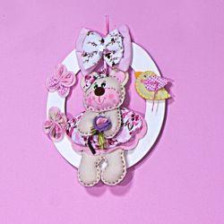 Porta Maternidade Ursa Floral