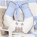 Almofada para Amamentação Cerquinha Azul
