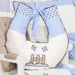 Almofada Amamentação Cerquinha Azul 55cm