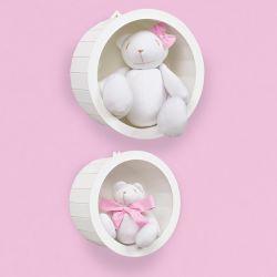 Nichos Decorados com Ursas Teddy Rosa