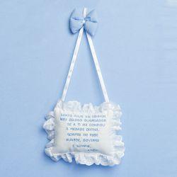 Porta Maternidade Oração Santo Anjo Teddy Azul