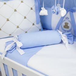 Almofada Apoio Bala Teddy Azul 62cm
