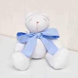Urso Gravata Azul 25cm