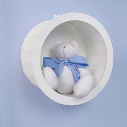 Nicho Decorado com Urso Teddy Azul P