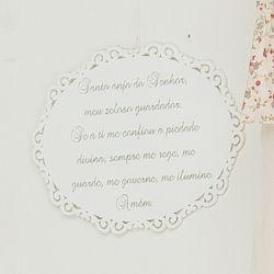 Porta Maternidade Oração Santo Anjo Floral