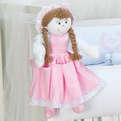 Porta Fraldas Boneca Princesa Rosa