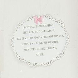 Porta Maternidade Oração Santo Anjo Princesa Rosa