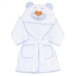Roupão com Capuz Urso Azul