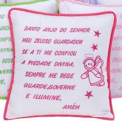 Almofada Oração Santo Anjo Pink