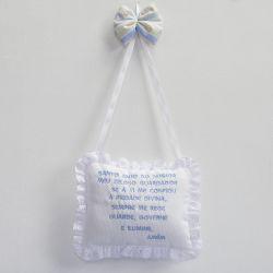 Porta Maternidade Oração Santo Anjo Selva Azul