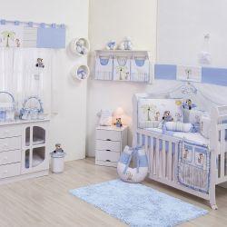 Quarto de Bebê sem Cama Babá Selva Azul