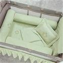 Kit Protetores para Berço Desmontável Urso Verde 03 peças