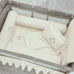 Kit Berço Completo Desmontável Urso Palha 1,16m x 80cm