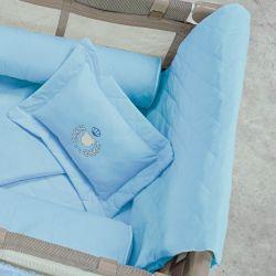 Kit Edredom e Almofada Urso Azul