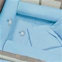 Jogo de Lençol para Berço Desmontável Urso Azul 1,16m x 80cm