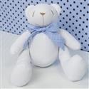 Urso M Gravata Azul Poá