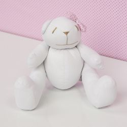 Urso Lacinho Rosa Poá 25cm