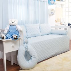 Kit Cama Babá Filó Azul