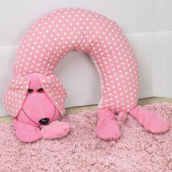 Almofada Amamentação Cachorro Rosa