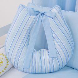 Almofada Amamentação Listrada Azul