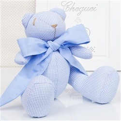 Urso Xadrez Azul P