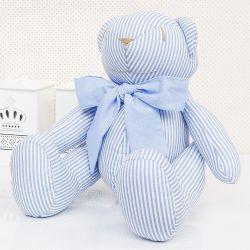 Urso Listrado Azul 34cm