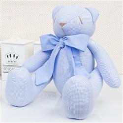 Urso Xadrez Azul M