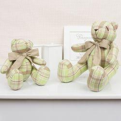 Ursos Xadrez Bege e Verde