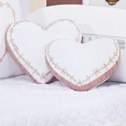 Almofadas Corações Carinho 2 Peças