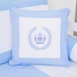 Almofada Bordada Realeza Azul 43cm