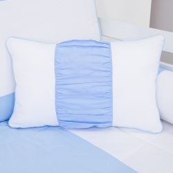 Almofada Retangular Realeza Azul 43cm