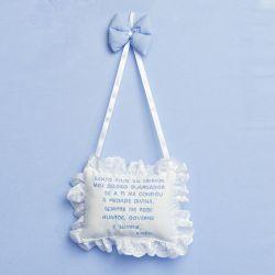 Porta Maternidade Oração Santo Anjo Realeza Azul
