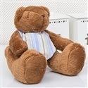 Urso Bandana Listrada Azul P