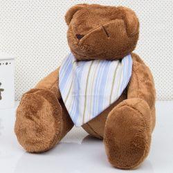 Urso Bandana Listrada Azul 34cm