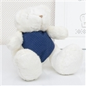 Urso Bandana Poá Azul P